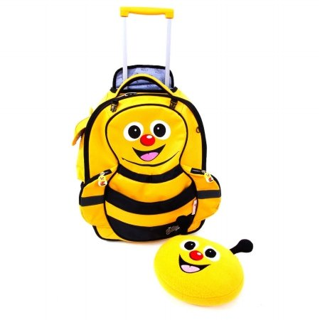 <Graceorchid>Cuties And Pals Carry-On Trolley Luggage + Pillow - Yellow Bee