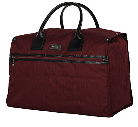 Nicole Miller New York Rosalie Collection Weekender Carry On Box Bag (Burgundy)