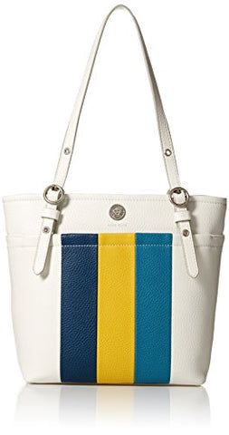 Anne Klein Pocket Stripe SM Tote, Leather/sb/s/mm