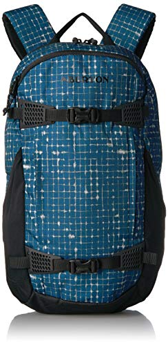 Burton Multi-Season Day Hiker 25L Hiking/Backcountry Backpack, Blue Sapphire Ripstop Texture Print