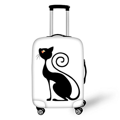 Doginthehole Funny Cats Luggage Covers Protector Elastic Suitcase Cover S M L