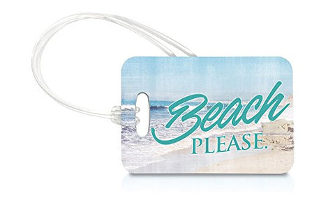 Vacation (Beach Please) Luggage Tag And Zipper Pull