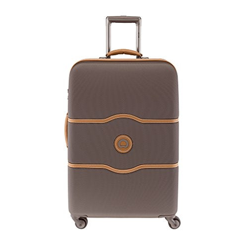 "Delsey Chatelet Lightweight Luggage 24"" Expandable Spinner - Brown Color"