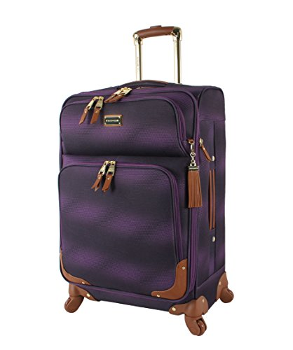 "Steve Madden Luggage 24"" Expandable Softside Suitcase With Spinner Wheels (24In, Shadow Purple)"