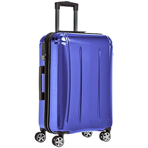 AmazonBasics Oxford Luggage Expandable Suitcase with TSA Lock Spinner, 24-Inch, Blue