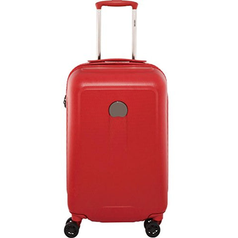 Delsey Luggage Embleme Carry-On Trolley, Red