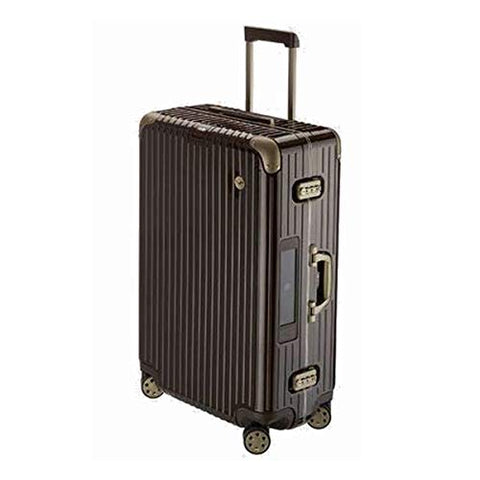 RIMOWA Lufthansa Elegance Collection suitcase 59.5L Electronic Tag Chocolate brown