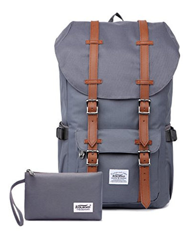 Kaukko Laptop Outdoor Backpack, Travel Hiking& Camping Rucksack Pack, Casual Large College School