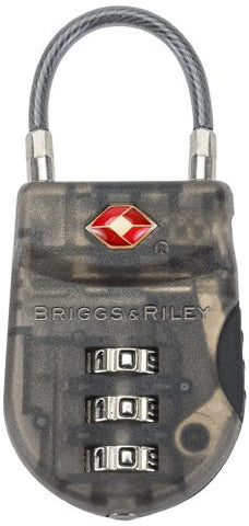 Briggs & Riley Travel Basics Lightweight Tsa Cable Lock, Smoke, One Size