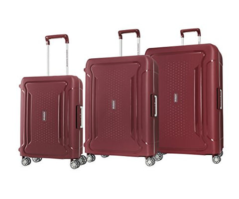 American Tourister Tribus 3 Piece Hardside Spinner Luggage Set (Red)