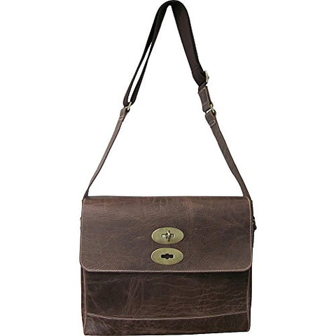 AmeriLeather Burlington Distressed Brown Leather Briefcase (Distressed Brown)
