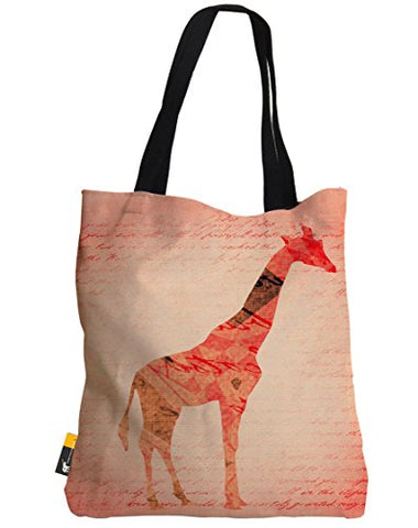 Boho Tote Bag - Pink Bohemian Giraffe Summer Beach Bag | Ubu Republic