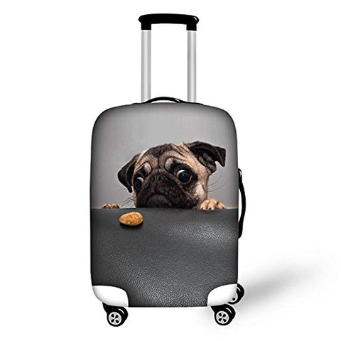 Bigcardesigns Pug Dog Spandex Travel Suitcase Protective Cover 26-30 Inch