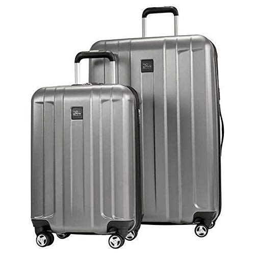 Skyway Whittier 2- Piece Spinner Hardside Travel Suitcase Luggage Set, Gray