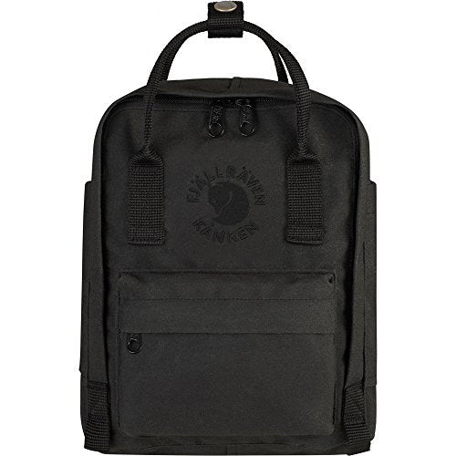 Fjallraven Kid'S Re-Kanken Mini Backpack, Black, Os