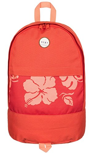 Roxy Junior'S Anchor Point Printed Backpack, Fiery Orange Tropical Border, One Size