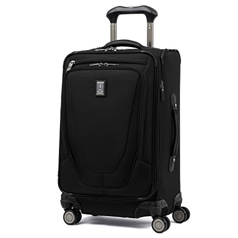 "Travelpro Luggage Crew 11 20"" Carry-on International Spinner w/USB Port, Black"