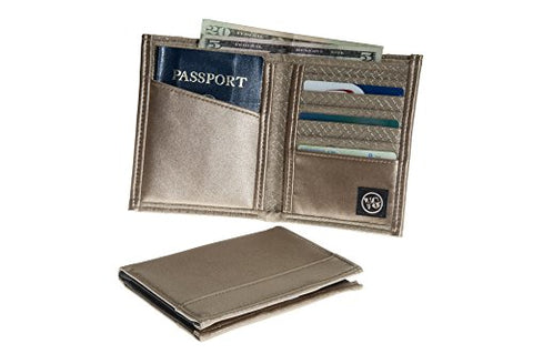 Viator Gear Rfid Armor Passport Wallet - Made In The Usa - Vegas Gold