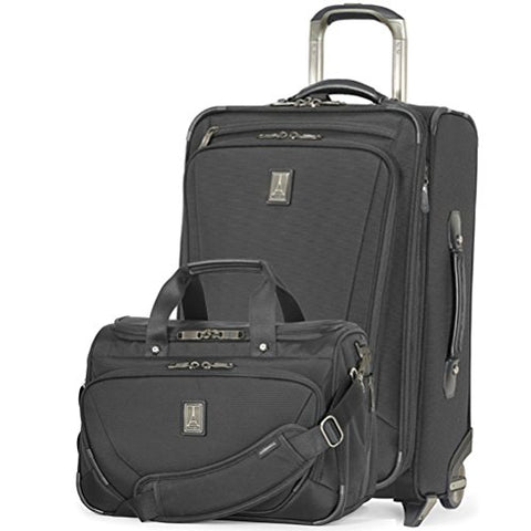 Travelpro Crew 11 2 Piece Set of 22 Upright and Deluxe Tote Black