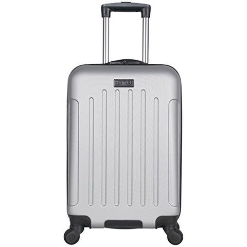 "Heritage Travelware Lincoln Park 20"" Hardside 4-Wheel Spinner Carry-on Luggage, Light Silver"