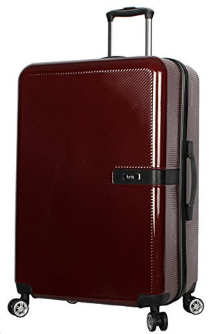 "Nicole Miller New York Ria Collection Hardside 28"" Luggage Spinner (28 in, Ria Burgundy)"