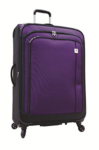 Samboro Feather Lite Lightweight Luggage 28 Inches Exp. Spinner Trolley - Purple Color