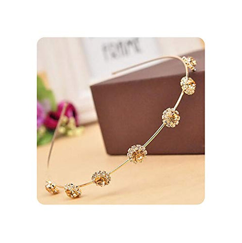 Colorful Rhinesone Flower Leaf Hair Hoop headband Hairband For Women Girls Bezel Hair Band Hair Accessories,2