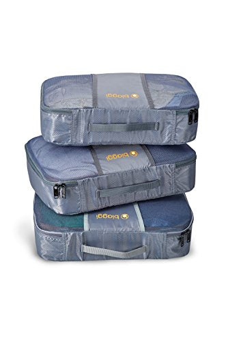 Biaggi Luggage Zipcubes - 3 Packing Cubes + Laundry/Shoe Bag, Medium