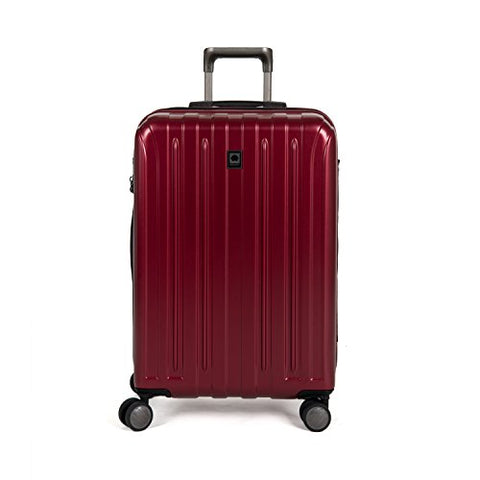 Delsey Luggage Helium Titanium 25 Inch EXP Spinner Trolley Red, Black Cherry, One Size