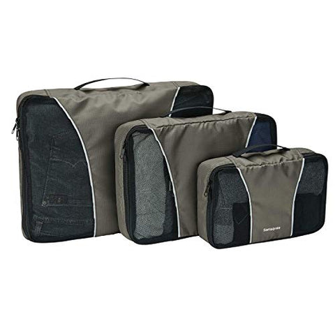 Samsonite 3 Piece Packing Cube Set Travel Tote Charcoal One Size