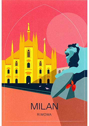 "RIMOWA Milan Italy country sticker for Topas, Original, Salsa, Essential series for luggage and carry on""Made in Germany"""