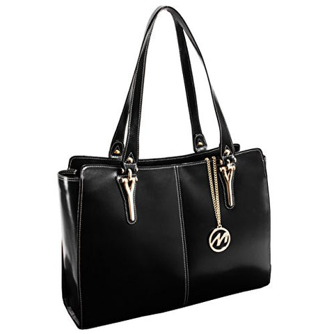 McKleinUSA GLENNA 97555 Black Leather Women's Business Tote
