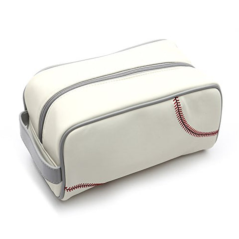 Zumer Sport Men'S Toiletry Bag, Baseball White, One Size