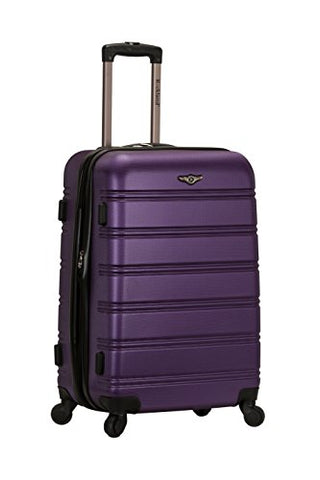 "Rockland Abs 24"" Expandable Spinner Luggage, Purple"