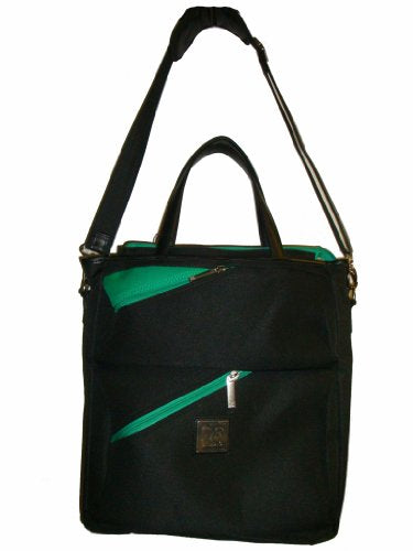 Diane Von Furstenberg Luggage Seventeen Again Tote, Black/Green, One Size