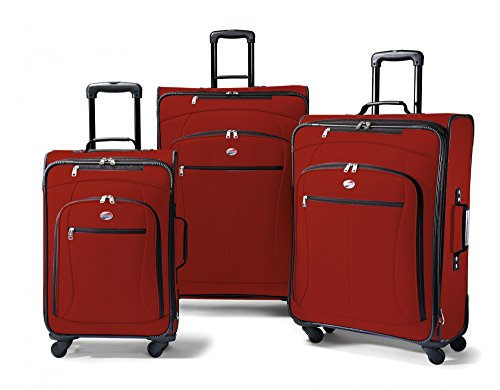 American Tourister Luggage AT Pop 3 Piece Spinner Set (One Size, Red)