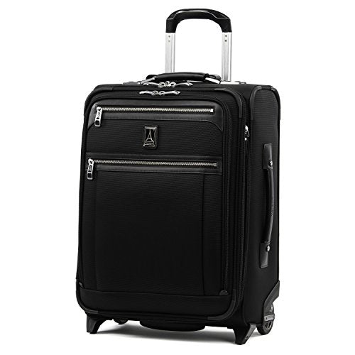 "Travelpro Luggage Platinum Elite 20"" Carry-on Intl Expandable Rollaboard w/USB Port, Shadow Black"