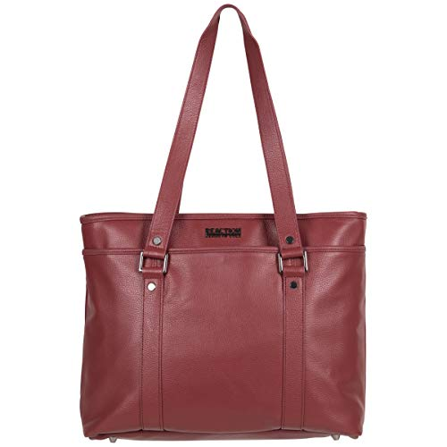 "Kenneth Cole Reaction Women's Downtown Darling Leather Single Compartment 16"" Laptop Tote, Red"