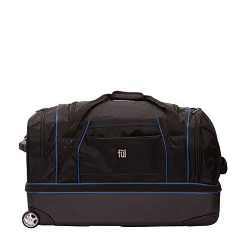 ful Workhorse 30-Inch Rolling Duffel Bag (Black And Blue)