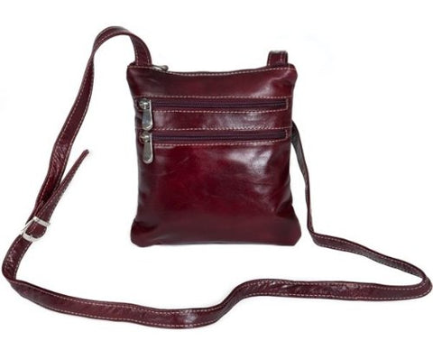 David King & Co. Florentine 3 Zip Cross Body Bag 3734 Red, Cherry, One Size