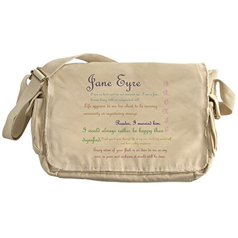 Cafepress - Jane Eyre Quotes - Unique Messenger Bag, Canvas Courier Bag