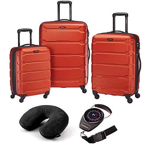 Samsonite Omni Hardside Luggage Nested Spinner Set - Burnt Orange W/Travel Kit