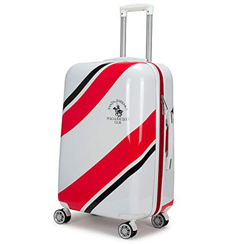 "Santa Barbara Polo Racquet Club Ribbon Collection Expandable Suitcase (Red Ribbon, 29"")"