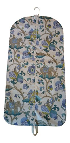 Carry It Well Women'S Turquoise Monkey And Elephant Hanging Garment Bag