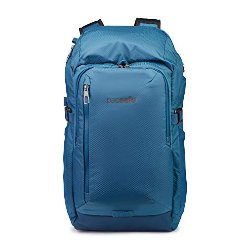 PacSafe Venturesafe X30-30L Anti-Theft Outdoor/Adventure-Ergonomic Design Hiking Backpack, Blue Steel, One Size