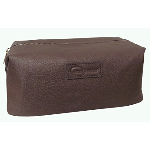 Amerileather Madison Leather Toiletry Bag (Brown)
