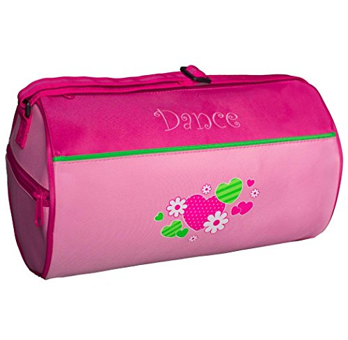 "Sassi Designs Hearts and Flowers Small Roll Duffel Bag Size: Small 7"" x 12"""