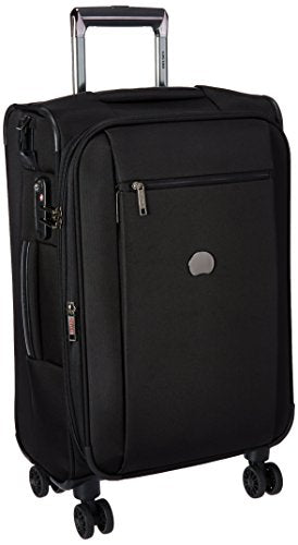 Delsey Luggage Montmartre 4 Wheel 21 Carry Exp Softside Lug, Black