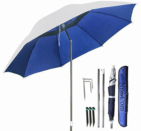 NEWCOM Portable Sun Shade Umbrella, Inclined, Heat Insulation, Antiultraviolet Function, Commonly Used In Garden, Beaches, Fishing Essential