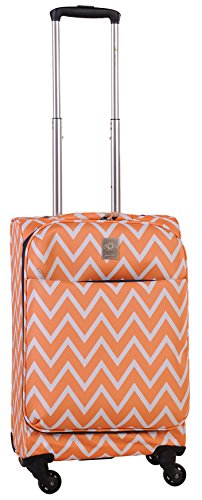 Jenni Chan Aria Madison 21 Inch Spinner Luggage, Orange, One Size